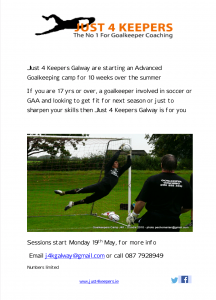 Goalkeeping in Galway