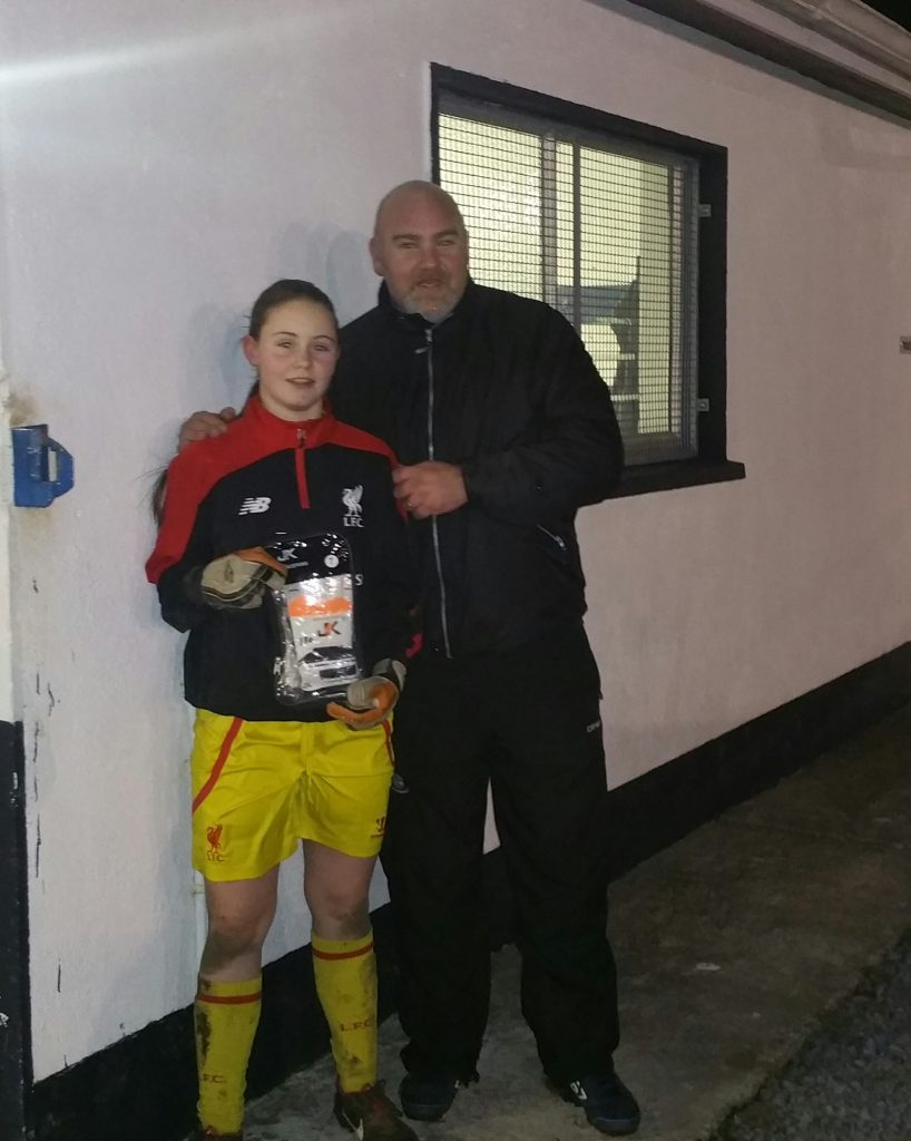 Amy Hawkins of Kiltullagh Pioneers with Adrian Cronin Just4Keepers