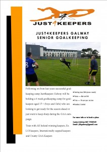 Senior goalkeeping camp 2015